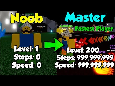 Noob To Master! Level 200! Becoming The Fastest Player! 3 Million Steps! - Legends Of Speed