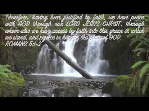 Bible verses of hope, relaxing gospel instrumentals,& waterfalls flowing.