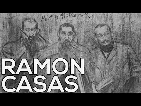 Ramon Casas: A collection of 203 sketches (HD)
