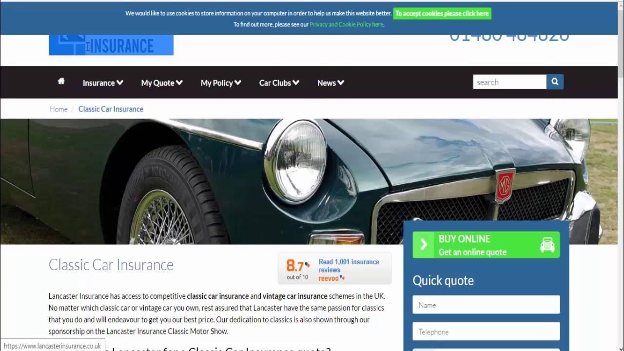 Classic Car Insurance in uk - YouTube