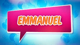 Joyeux anniversaire Emmanuel
