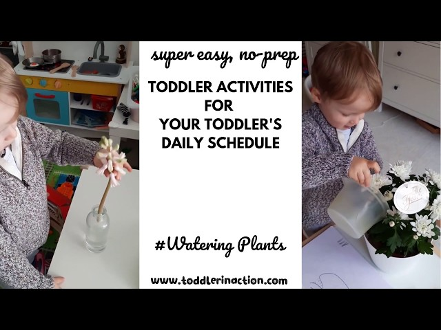 19 easy indoor toddler activities at home, Practical Life Montessori at home, Watering Plants