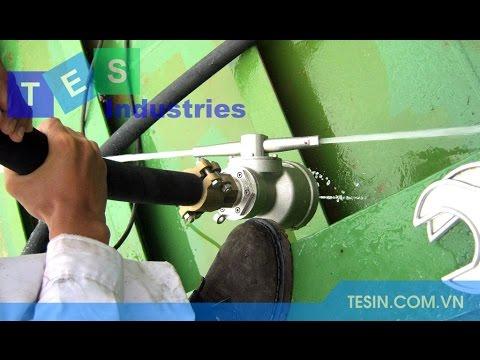 Giới thiệu thiết bị rửa hầm hàng di động