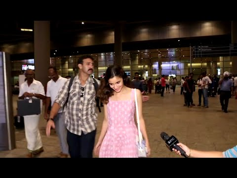 Alia Bhatt in a cute pink gown spotted at Mumbai Airport.