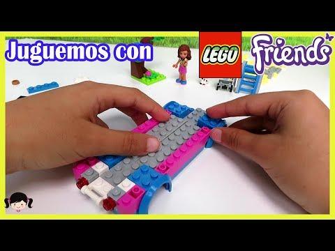 Jugando y Armando Legos   Friends Olivia y el Vehiculo de Misión