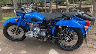 Отличный мотоцикл Урал / Тест-драйв синего ИМЗ 8.103.10