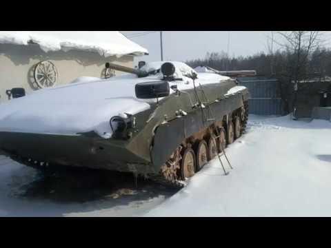 видео: запуск  двигателя бмп зимой, часть 1