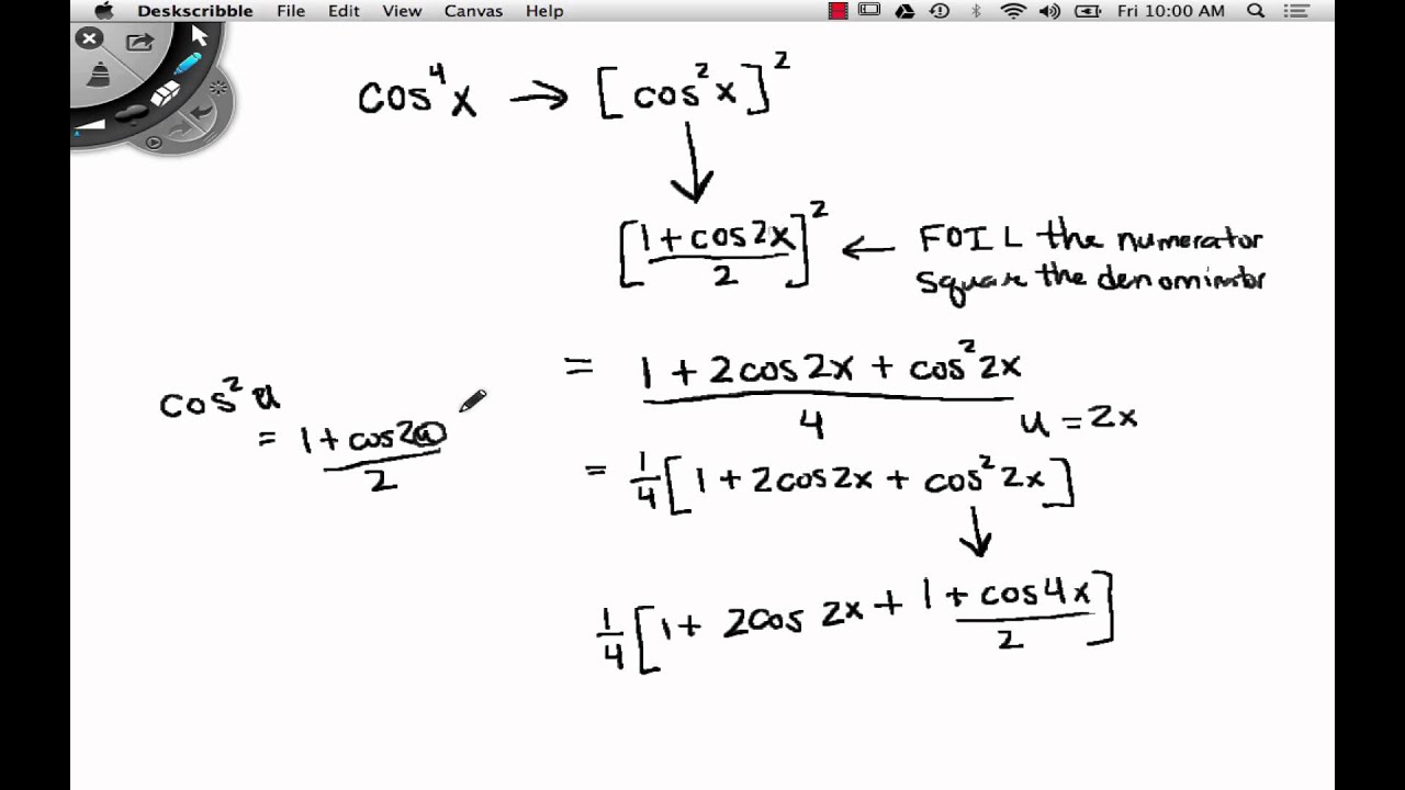Precalculus Lesson 5 5 Power Reducing Formulas part 2 - YouTube