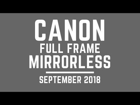 Canon FULL FRAME Mirrorless Announcement Sept 2018 (UNLESS Nikon Changes)