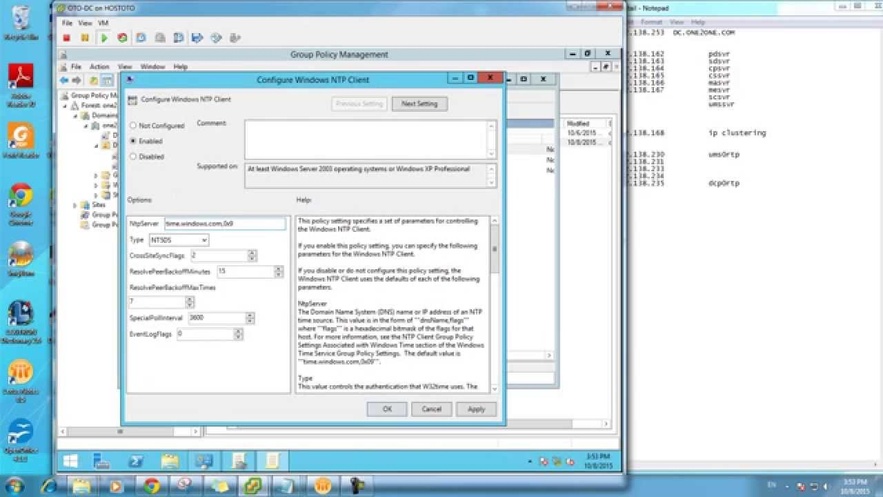 NTP client by DC group policy