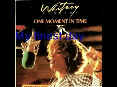 whitney houston one moment in time lyric youtube. Black Bedroom Furniture Sets. Home Design Ideas