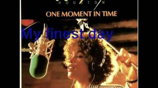 Whitney Houston -  One Moment in Time (Lyric)