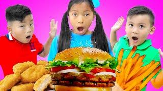 温迪假装玩唱儿歌午餐盒里有什么好吃的The Lunch Song