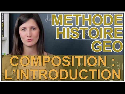 Composition : rédaction de l'introduction - Histoire-Géographie - Les Bons Profs