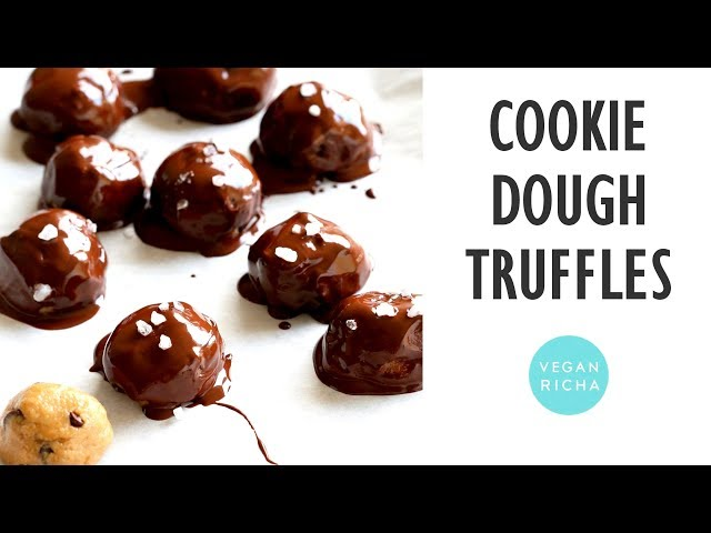 Vegan Cookie Dough Truffles!  Glutenfree | VeganRicha.com