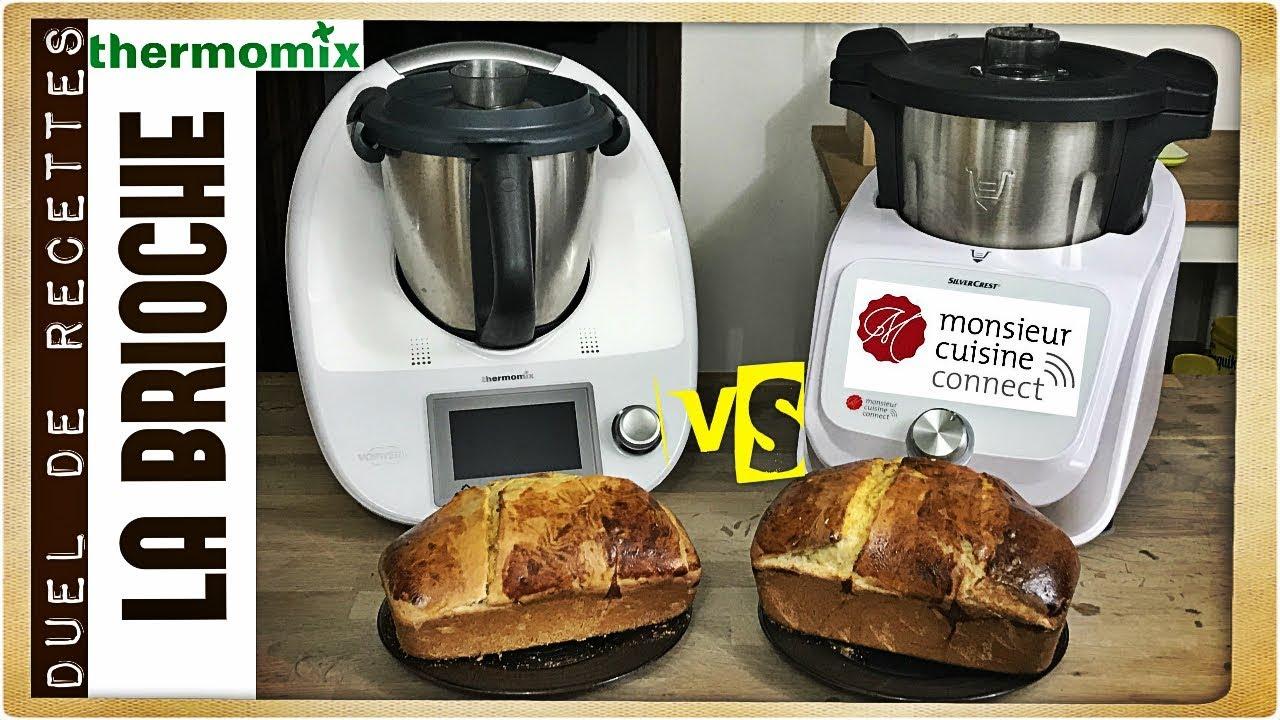 duel de recettes la brioche monsieur cuisine connect vs thermomix tm5 sand cook look