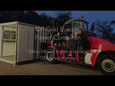 Lithium storage Power Container by Off Grid Europe
