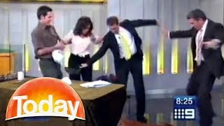 TV host freaks out over snake prank on live TV