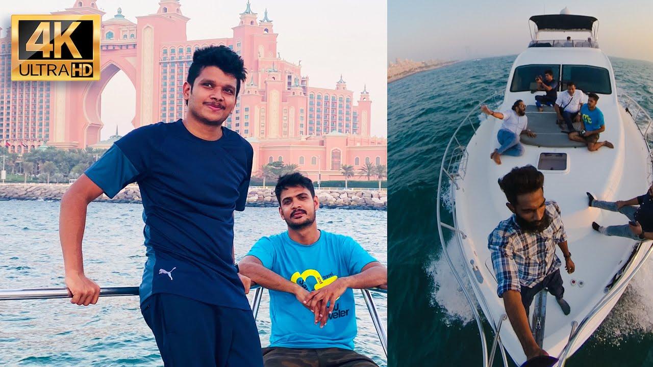 Yacht Ride In Dubai 4k videos / മണിക്കൂറിനു പതിനായിരങ്ങൾ വില ....