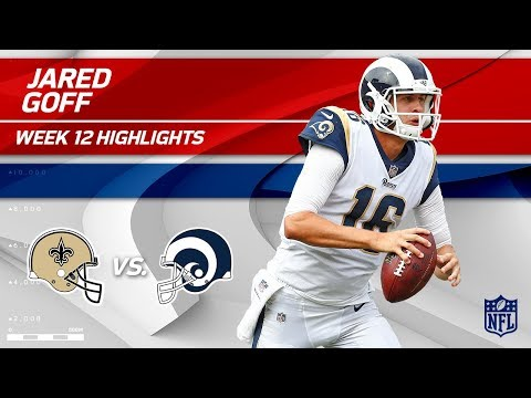 Jared Goff Explodes for 354 Yds & 2 TDs vs. New Orleans! | Saints vs. Rams | Wk 12 Player Highlights