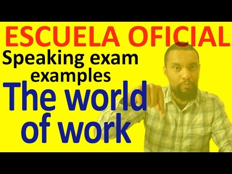 Sample B2 Speaking Test 2 THE WORLD OF WORK
