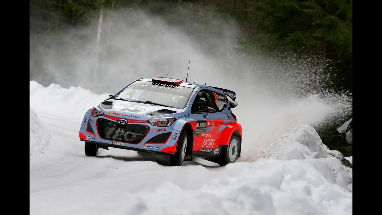 Rally Sweden Shakedown Hyundai Motorsport 2015 Youtube