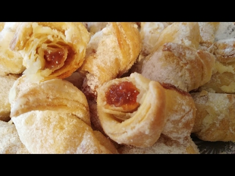 Bakina kuhinja - domaći lisnati mini kroasani (homemade layered mini croissants)