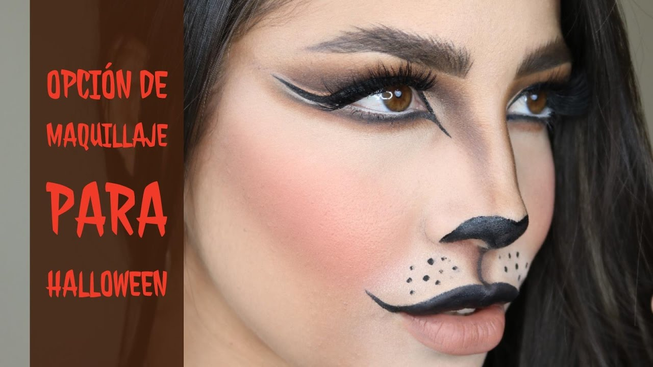 maquillaje para halloween gatita felina youtube