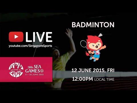 Badminton Womens Team Finals (Day 7)   28th SEA Games Singapore 2015