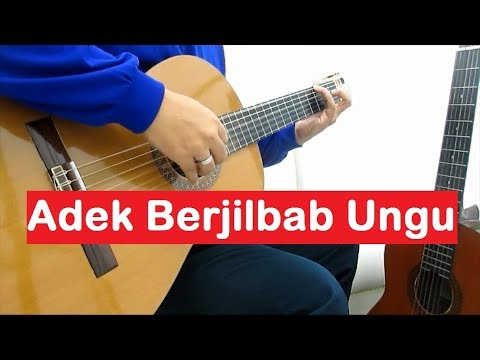 Adek Jilbab Ungu Fingerstyle Guitar