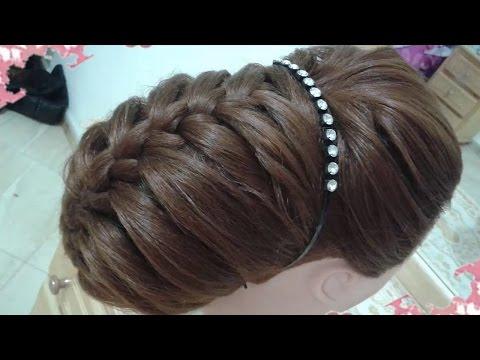 peinados recogidos faciles para cabello largo bonitos y rapidos con trenzas para niña para fiestas47 2017
