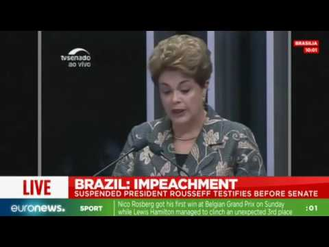 Live: Brazil's Dilma Rousseff testifies at impeachment trial