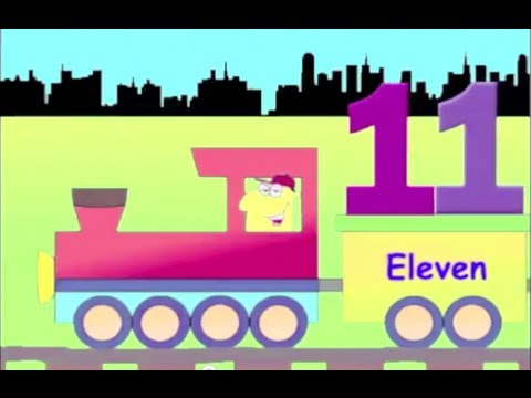 Number Train, 11 to 20 - learning train numbers for kids - YouTube