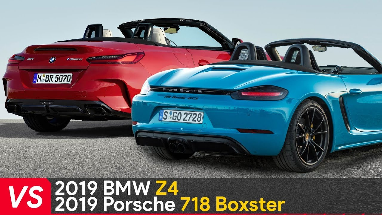 2019 Bmw Z4 Vs Porsche 718 Boxster Design Amp Specifications