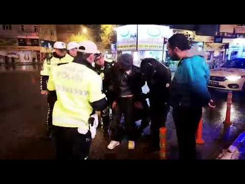 Karaman'da alkollü sürücü polise zorluk çıkarttı
