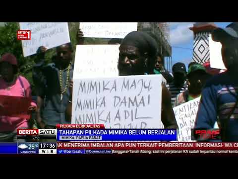 Ratusan Orang Demo Di Depan KPU Mimika Minta Pilkada Dilanjutkan