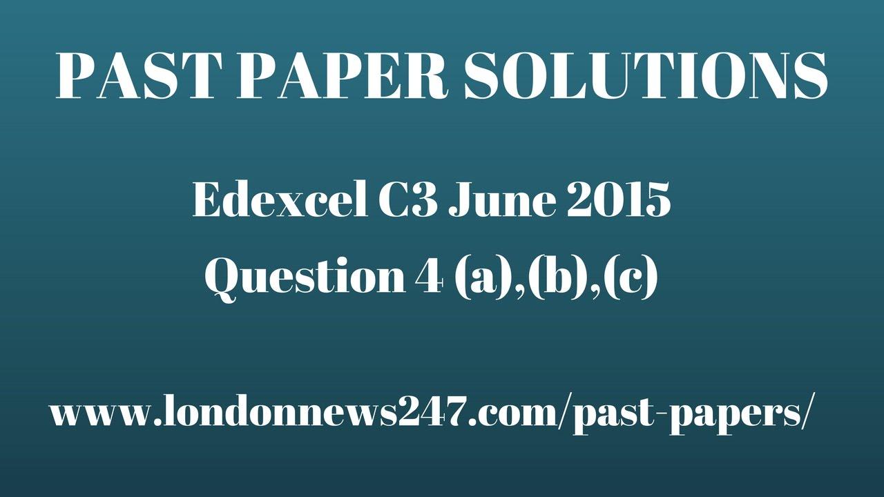 edexcel c3 advanced paper january 2014