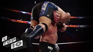 Brock Lesnar's Most Powerful Moments - WWE Top 10(Check out Brock Lesnar's most jaw-dropping displays of his scary strength in this edition of WWE Top 10. More ACTION on WWE NETWORK ..., 2015-01-10T12:06:14.000Z)