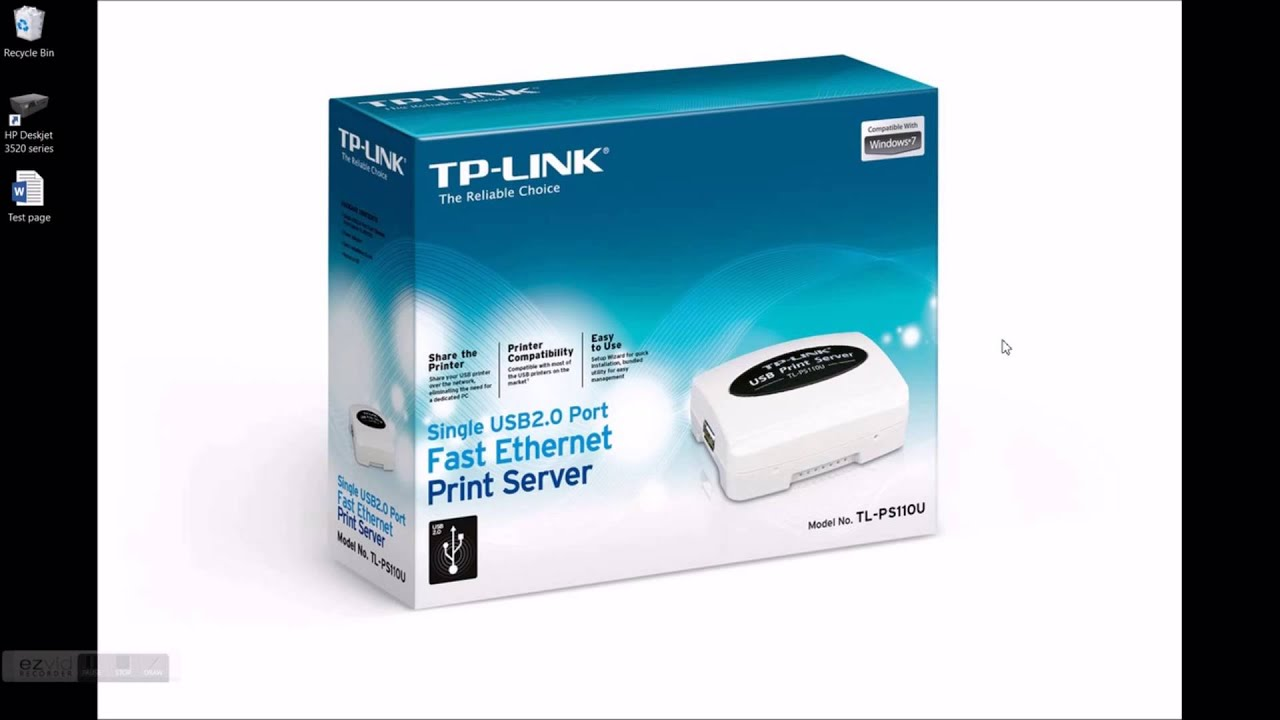 TP-Link TL-PS110U Print Server set up - YouTube
