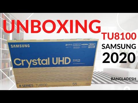 How To Unboxing TU8100 Samsung Crystal UHD 4K LED TV Bangla [2020] Online TV Services