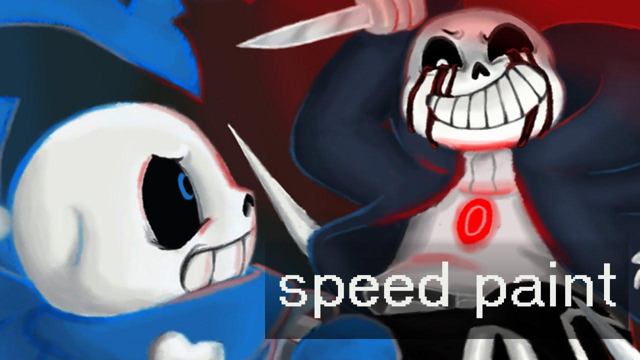 Underswap sans vs killer sans speed paint youtube