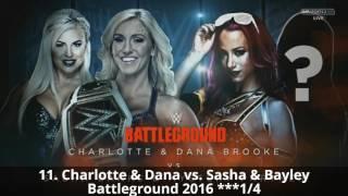 Top 15 WWE Battleground PPV Matches (2014-2016)