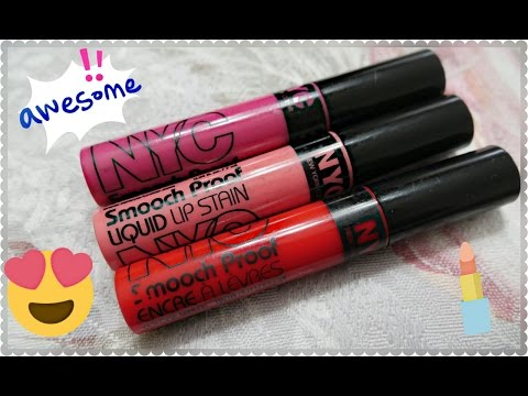 NYC SMOOCH PROOF LIQUID LIP STAIN Tinte labbra LOW COST Review e applicazione