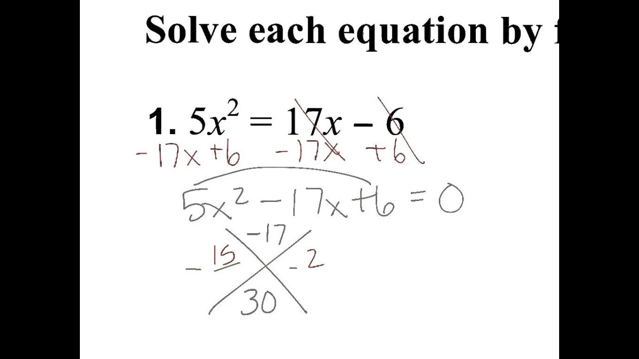 Solving Quadratics Not In Standard Form Youtube