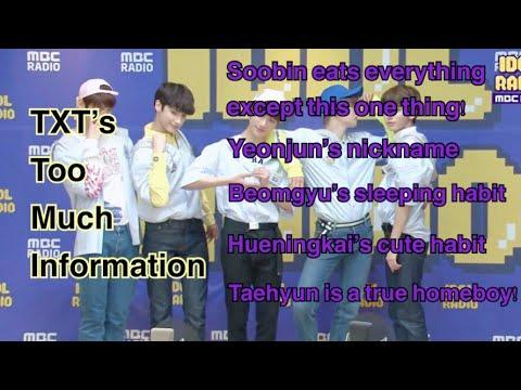 TXT's TMI(Too much information) at IDOL RADIO [CC ENG SUB]