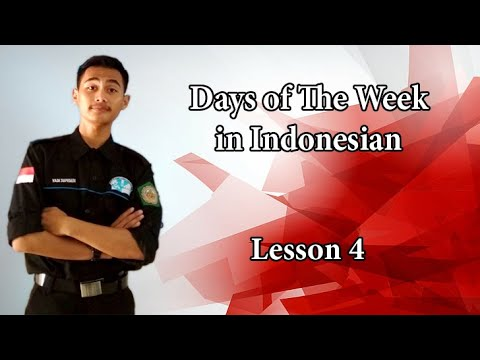 Learning Bahasa Indonesia ~ How to say Days in Indonesian