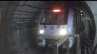 [Shanghai Metro032]Line10 AC15 Train 上海地下鉄10号線AC15@HongQiao-Road 虹橋路&四平路