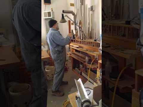Samuel at J. F. Nordlie Company Pipe Organ Builders
