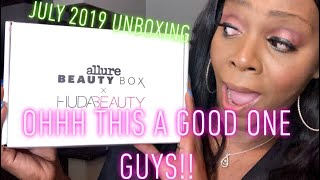 July 2019: Allure Beauty/ HUDA Beauty Unboxing!! It's AMAZING GUYS!!| TonyaNicole