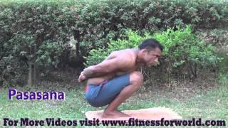 Pasasana पासासन by QCI certified  personal yoga trainer in mumbai and navi mumbai